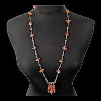 Vintage Artisan Genuine Amber Necklace