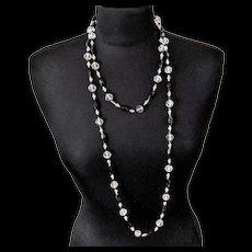 Art Deco Crystal Bead Necklace