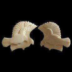 Laurel Burch Carved Dove Earrings