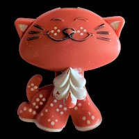 Avon Coral Color Kitten Fragrance Glace Pin 1973