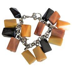 Vintage Bakelite Chunks Bracelet