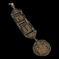 Vintage Egyptian Revival Watch Fob for Chain