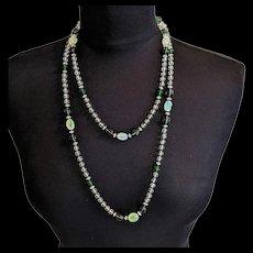 Green Art Deco Era Necklace