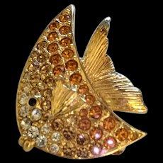 Carolee Rhinestone Angelfish Pin
