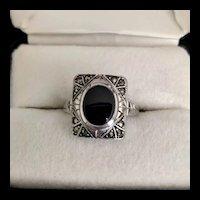 Art Deco Marcasite Ring