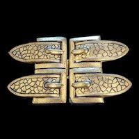 Art Deco Double Buckle Belt Buckle