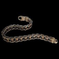 Vintage Sterling Silver Track Style Bracelet