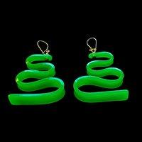 Mid Century Plastic Ribbon Candy Earrings