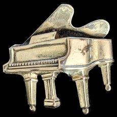 Beau Sterling Grand Piano Pin Brooch