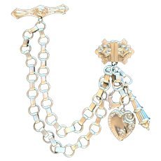 Victorian Revival Chatelaine Pin Brooch
