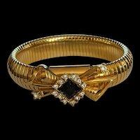 Mid Century Retro Modern  Rhinestone Bracelet