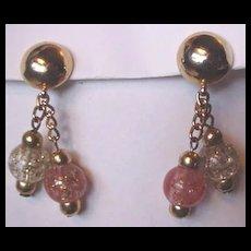 Confetti Lucite Drop Earrings