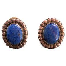 Vintage Nakai Sterling Silver Lapis Lazulli Earrings Native American