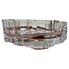 Massive Tapio Wirkkala Modernist Art Glass Bowl Iceberg Lompolo Signed #