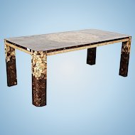 Modern Inlaid Dining Table Console Chairs Side End Buffet Mid Century