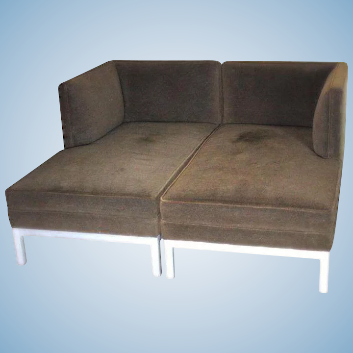 Outstanding Pair 2 Brown Jordan Chaise Lounge Steel Sofa Bed Loveseat Settee Daybed Modern Alphanode Cool Chair Designs And Ideas Alphanodeonline