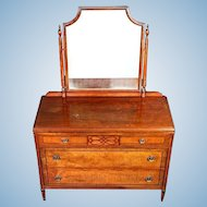 Rare Stiehl Furniture Art Deco Dresser Mirror Vanity Commode Chest Drawers Sofa