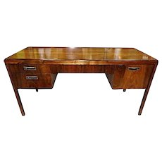 Fine Mahogany Mid Century Modern Desk Table Chest Drawers Secretary Vintage