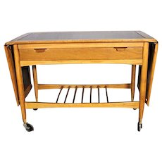 Elegant Mid Century Modern Tea Cart Side Table Console Server Vintage Sofa Stand