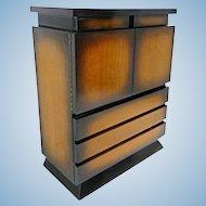 1950 Sunburst Cabinet Chest Bureau Dresser Credenza Buffet Mid Century Modern