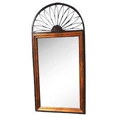"40""H CHAPMAN Spain Iron Wood Frame Wall Mirror Mid Century Modern Art Deco"