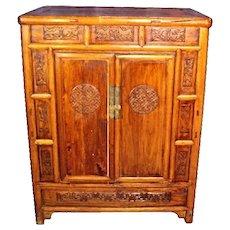 Carved Teak Magic Wardrobe.Country Pine 1890 S Antique Armoire Or Wardrobe Original Lock