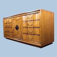 Mid Century Dresser Mirror Vanity Bureau Cabinet Chest Bedroom Set Nightstands
