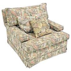 "Huge 38"" Down Club Lounge Chair Armchair Mid Century Modern Loveseat Vintage"