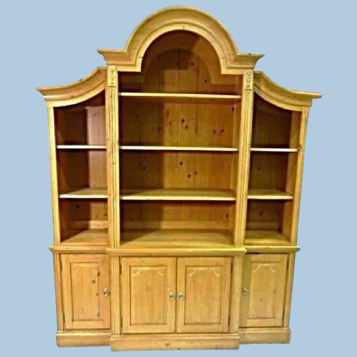 Ethan Allen French Country Pine Hutch, French Country China Cabinet