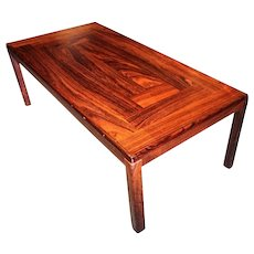Danish Modern Rosewood Coffee Cocktail Table Side End Console Vintage Mid Century