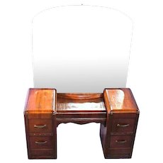 1930s Art Deco Vanity Dresser w/ Mirror Buffet Chest of Drawers Sofa