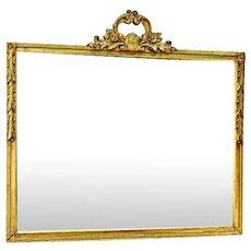 Antique Regency Style Carved Gilt Wood Wall Mirror Home Decor Rug Frame Vintage