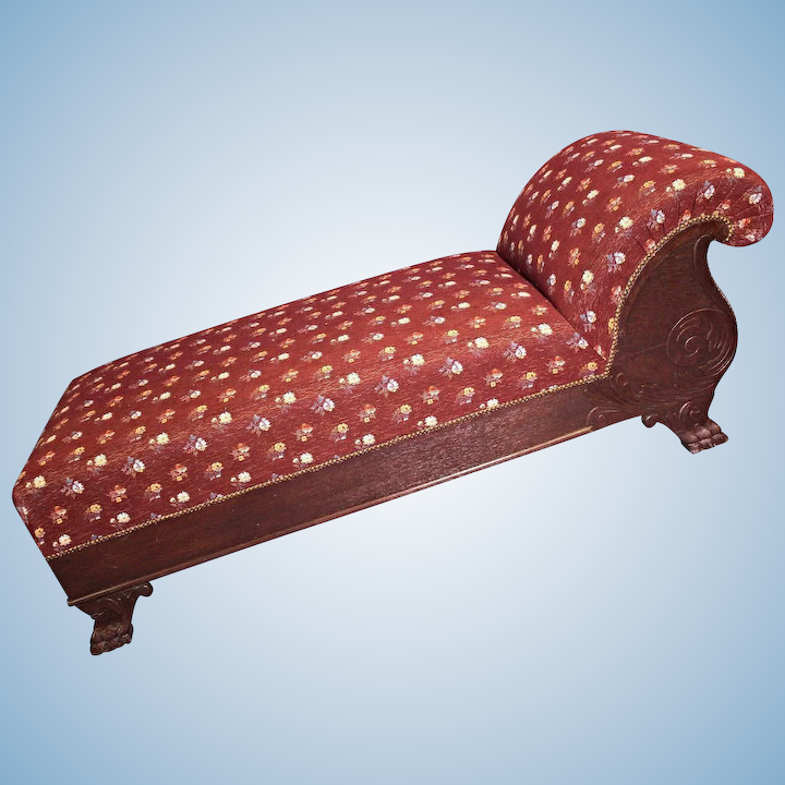 Incredible 19Th C Antique Needlepoint Oak Victorian Chaise Lounge Couch Sofa Loveseat Bench Ncnpc Chair Design For Home Ncnpcorg