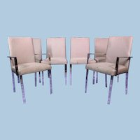 Rare Set 6 Six DESIGN INSTITUTE AMERICA Dining Side Chairs Armchairs Modern DIA