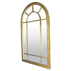 """Huge 58""""H Art Deco Arched Heavy Wood Frame Wall Mirror"""