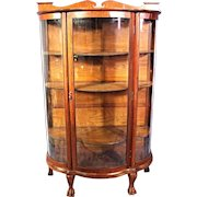 1900 Signed LARKIN Display Curio China Cabinet Vitrine Server Antique Victorian