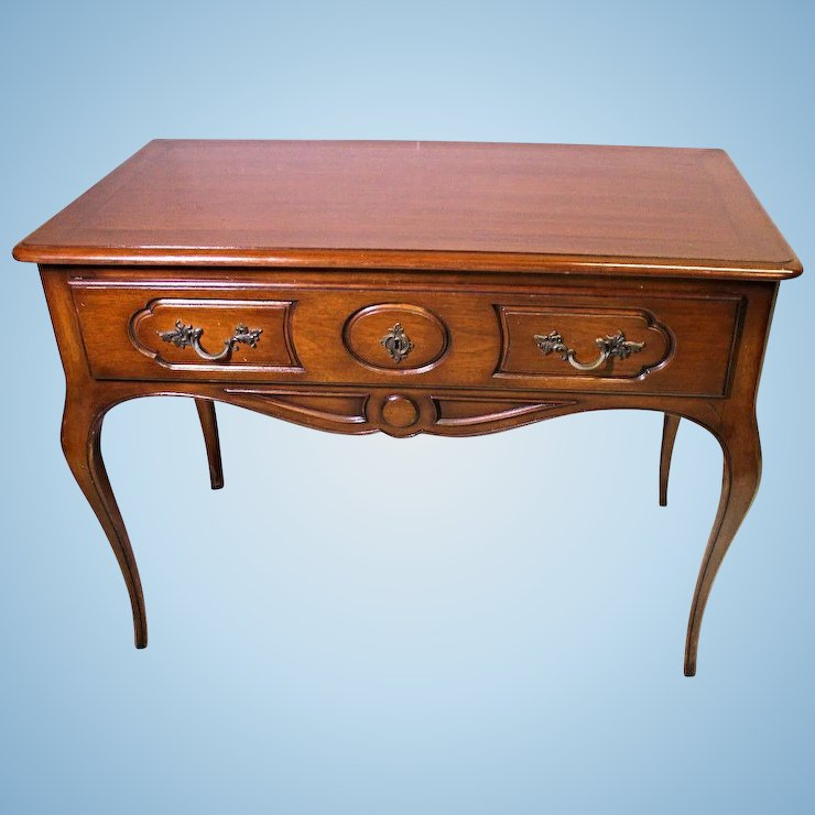 Louis Xv French Provincial Gany Side End Table Writing Desk Vanity Vintage