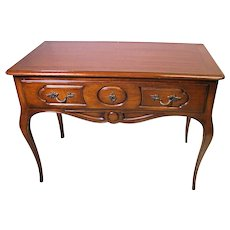 Louis XV French Provincial Mahogany Side End Table Writing Desk Vanity Vintage