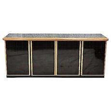 Large Black Lacquer Modern Credenza Sideboard Buffet Cabinet Server Dresser