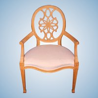 George III Style Carved Wood Armchair Chair Accent Dining Side Antique Vintage
