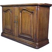 Bordeaux Louis XV French Provincial 2 Door Cabinet Buffet Commode Dresser