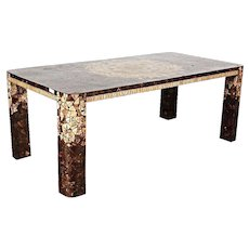Art Deco Modern Inlaid Dining Conference Table Console Chairs Side Mid Century