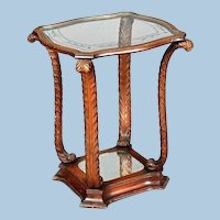 1930 Prince of Wales Mahogany Fireside Table Antique Vintage Side End Coffee