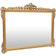 "1900's Antique Neoclassical Gold Gilt Wood Rectangular Mirror 23""X30"" Vintage"