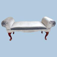 Fine Queen Anne Window Bench Loveseat Sofa Vanity Rosewood Chair Settee Vintage
