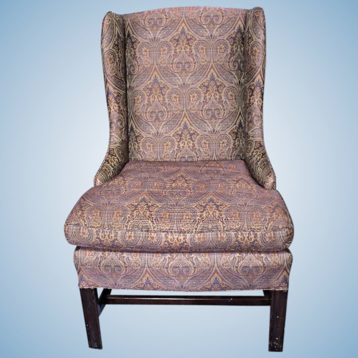 Swell Purple Paisley Lounge Child Wing Armchair Side Sofa Loveseat Settee Vintage Alphanode Cool Chair Designs And Ideas Alphanodeonline