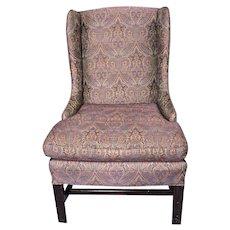 Purple Paisley Lounge Child Wing Armchair Side Sofa Loveseat Settee Vintage