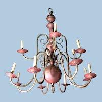 12-Arm Antique Dutch Baroque Style Copper Brass Chandelier Fixture Lamp Lighting