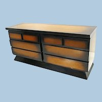 1950 Sunburst Dresser Credenza Buffet Sideboard Chest Drawers Mid Century Modern