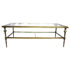 2 Tier Neoclassical Glass Top Coffee Cocktail Table Mid Century Modern Side End